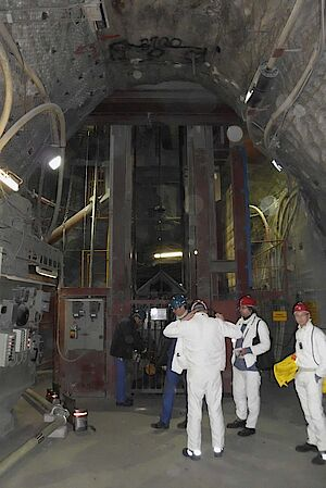 Shaft-landing at the ASSE mine