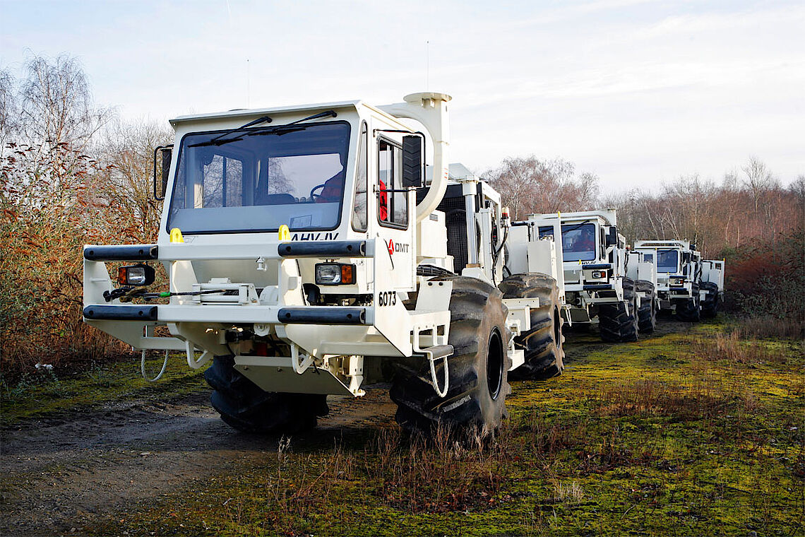 DMT vibroseis vehicles during site exploration