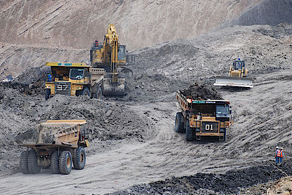 Truck and shovel operation in a coal mine in the course of a due diligence