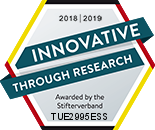 "Seal ""Innovation through Research"""
