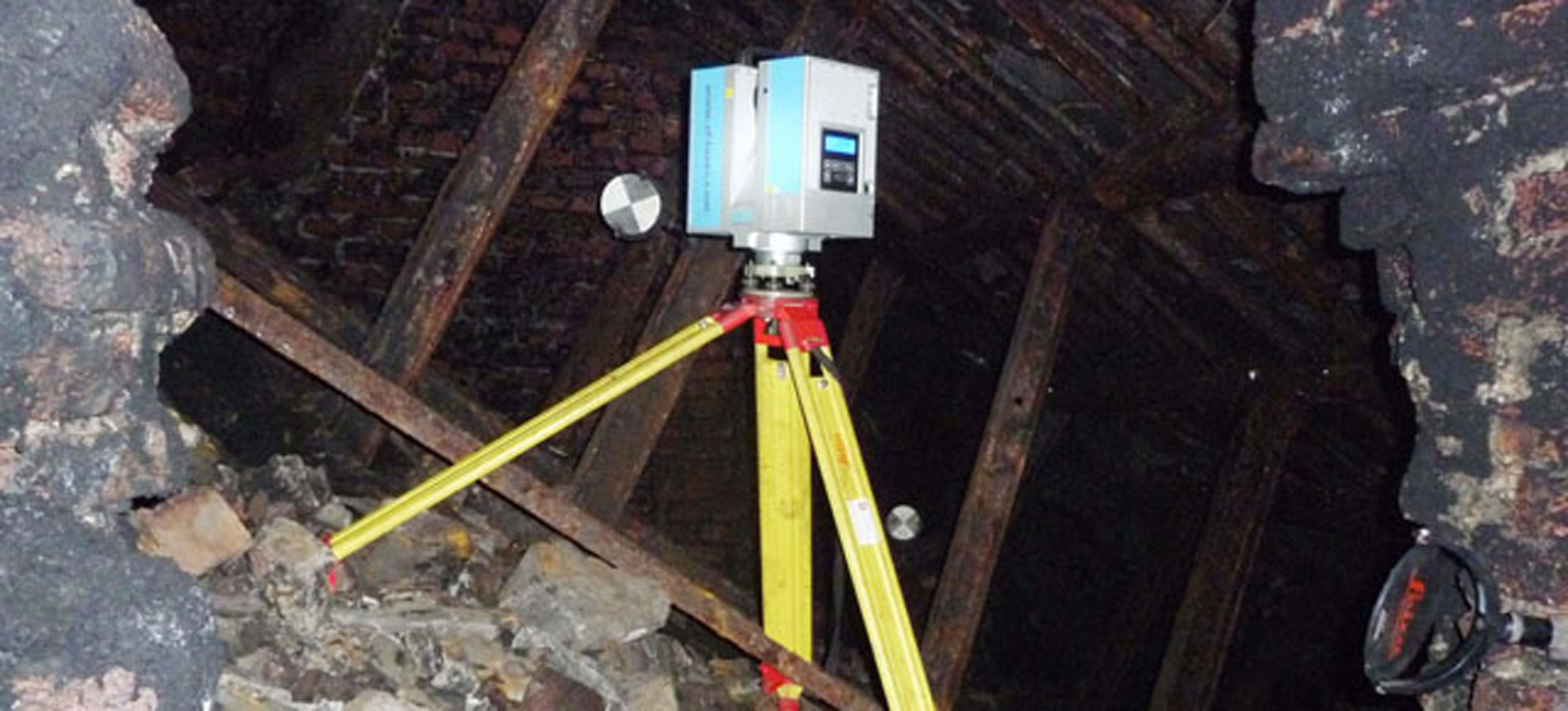 3D Laser Scanner In An Abandoned Mine Working